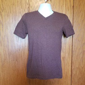 Arizona Jeans Co. Brown XS V-Neck Short Sleeve Top